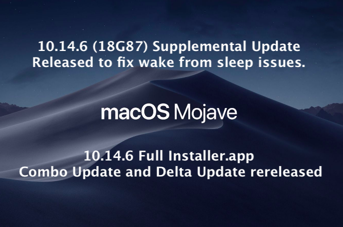 10 14 6 Supplemental Update Released to fix Wake From Sleep