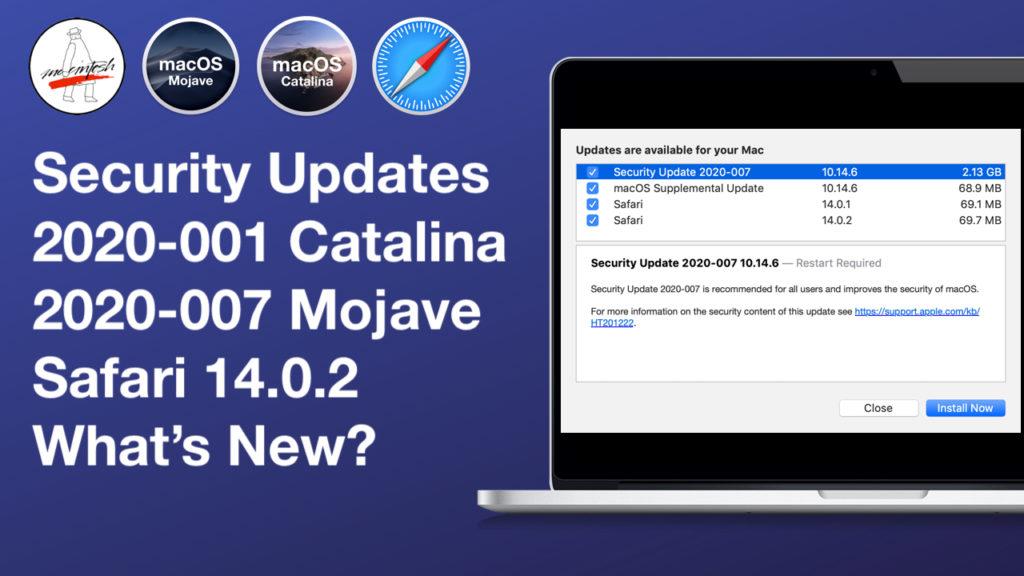 Update MacOS 2020-007 (Mojave)